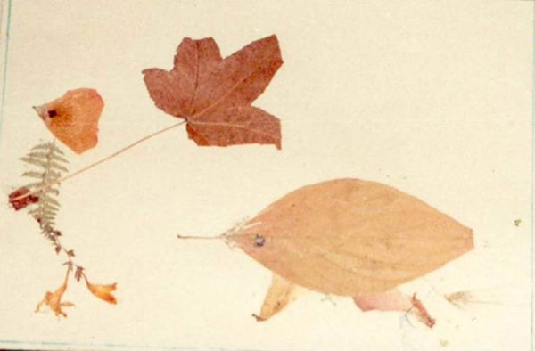 Leaf Art by May Allan
