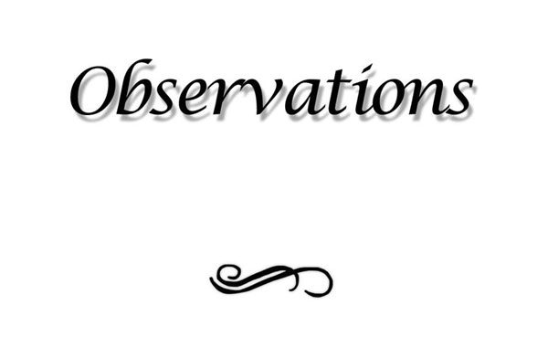 Observations by May Allan